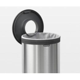 Бак для белья с пластиковой крышкой 35 л стальной матовый