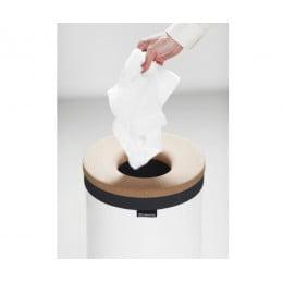 Бак для белья с пробковой крышкой 35 л белый