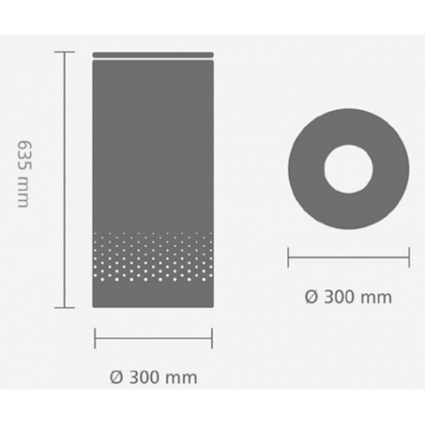 Бак для белья с пробковой крышкой 35 л мятный