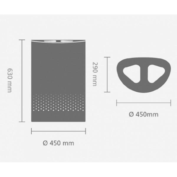 Двухсекционный бак для белья 55 л белый
