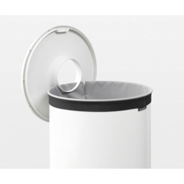 Бак для белья с пластиковой крышкой 60 л белый