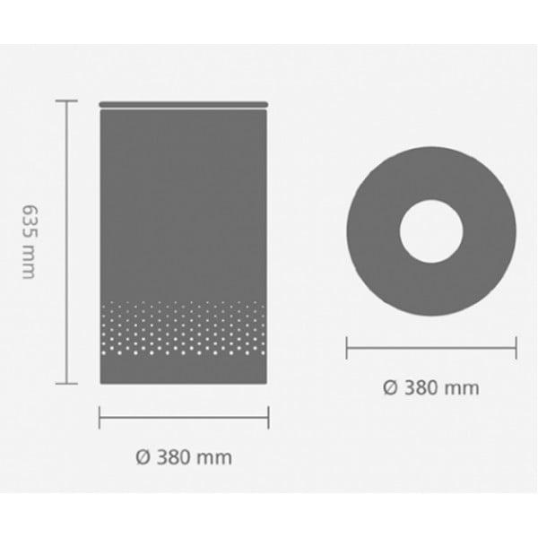 Бак для белья с металлической крышкой 60 л стальной полированный