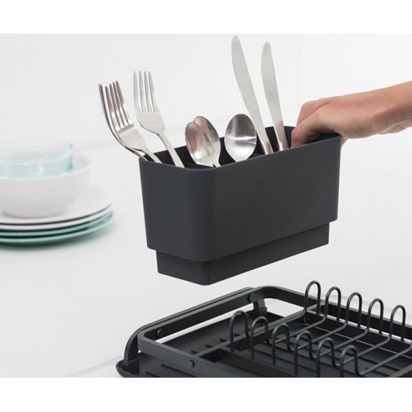 Компактная сушилка для посуды темно-серый