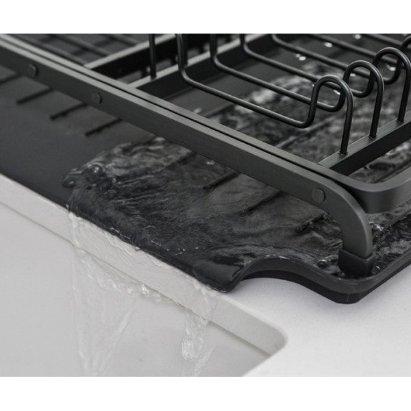 Сушилка для посуды темно-серый