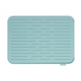 Силиконовый коврик для сушки посуды мятный