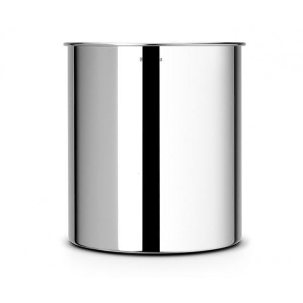 Коническая корзина для бумаг 7 л стальной полированный