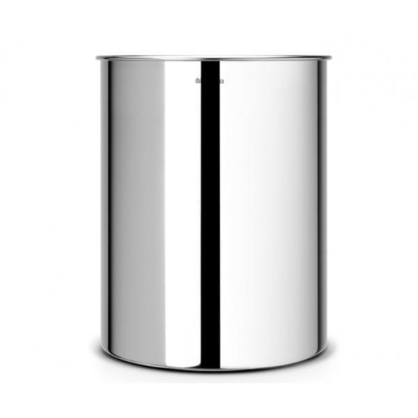 Корзина для бумаг 15 л стальной полированный