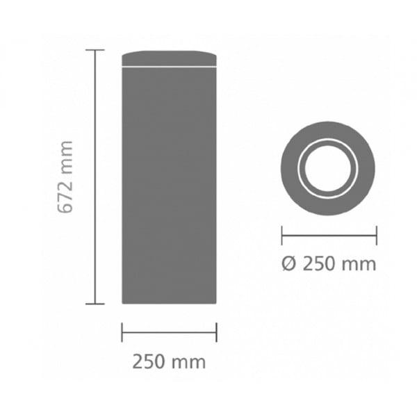 Урна для бумаг с защитой от возгорания 20 л стальной полированный