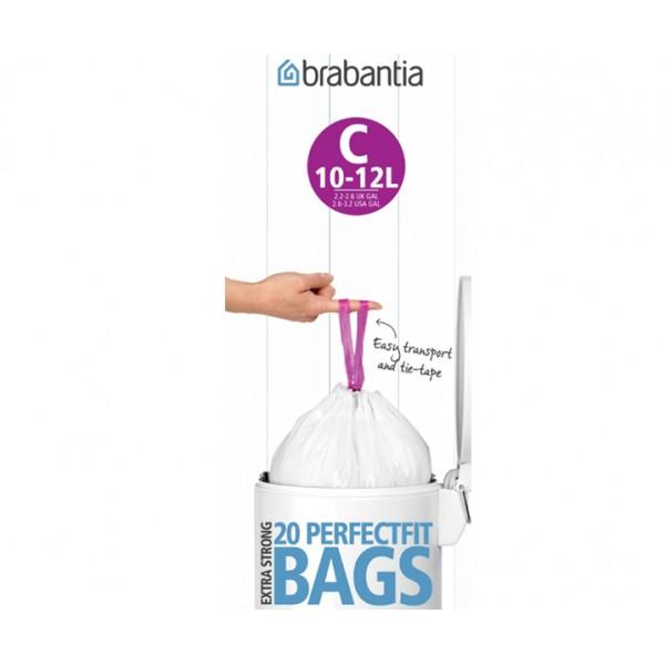 Мешки для мусора PerfectFit размер С (10-12 л) рулон 20 шт