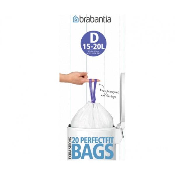 Мешки для мусора PerfectFit размер D (15-20 л) рулон 20 шт