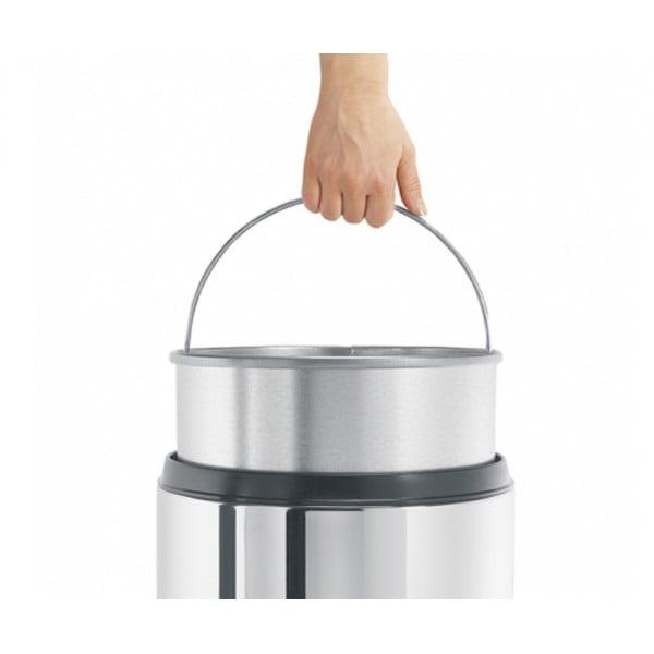 Урна для бумаг с защитой от возгорания 30 л стальной полированный