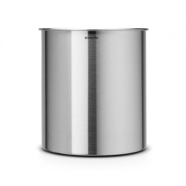 Коническая корзина для бумаг 7 л стальной матовый