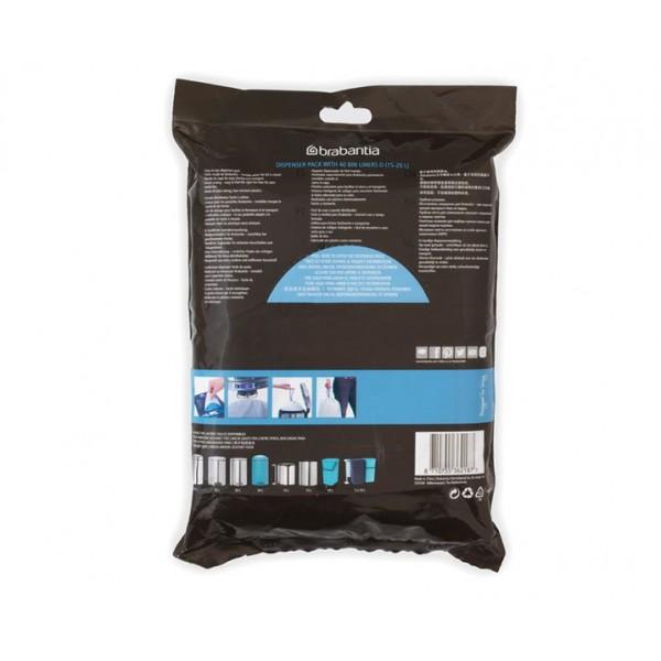 Мешки для мусора PerfectFit размер D (15-20 л) упаковка-диспенсер 60 шт
