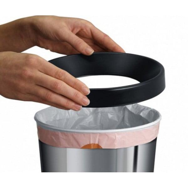 Коническая корзина для бумаг 5 л стальной полированный