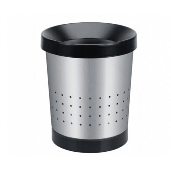 Коническая корзина для бумаг 5 л стальной матовый