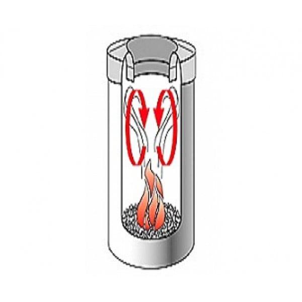 Урна для бумаг с защитой от возгорания 30 л стальной матовый