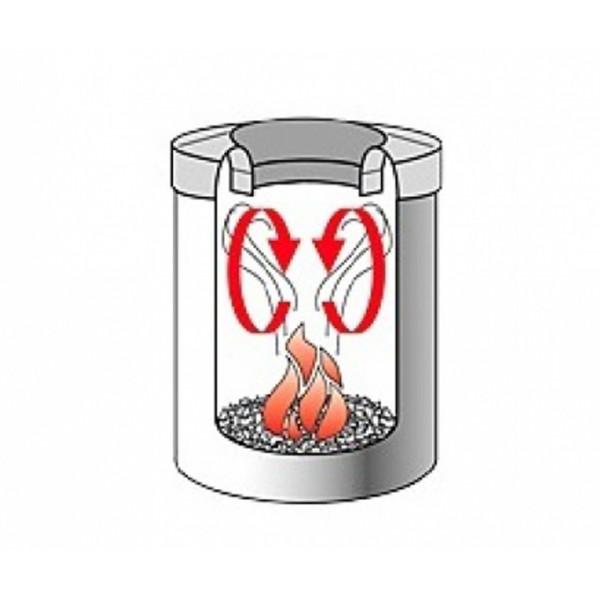 Урна для бумаг с защитой от возгорания 15 л стальной матовый