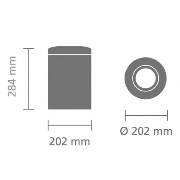 Урна для бумаг с защитой от возгорания 7 л стальной полированный