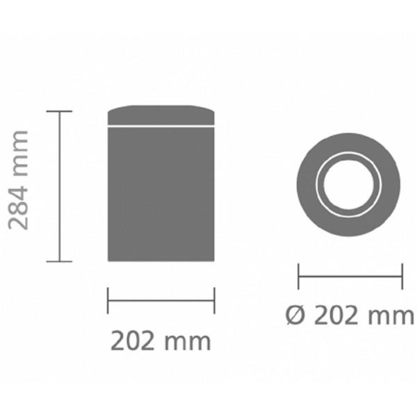 Урна для бумаг с защитой от возгорания 7 л стальной матовый