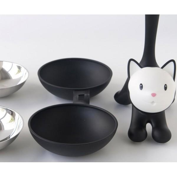 Миска для кошки Tigrito двойная серая