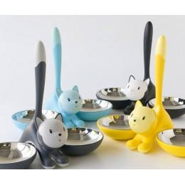 Миска для кошки Tigrito двойная голубая