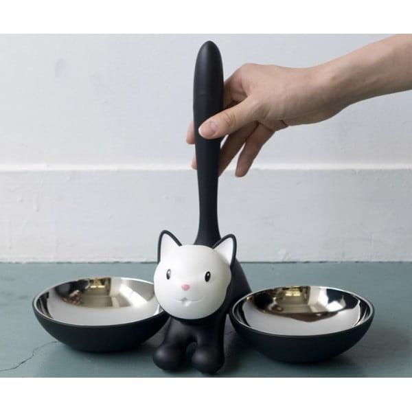 Миска для кошки Tigrito двойная желтая