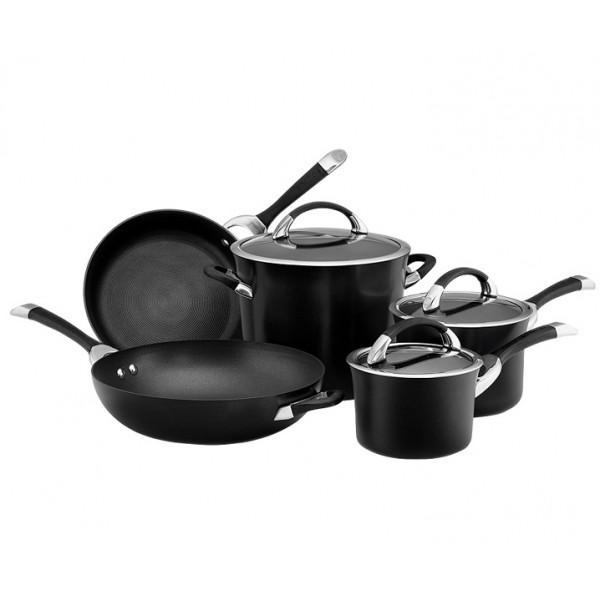 Набор из 5 кастрюль и сковородок Symmetry чёрный