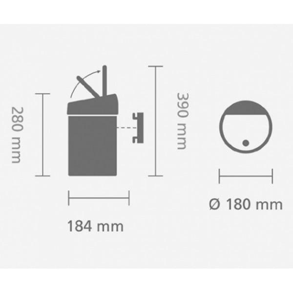 Мусорный бак Touch Bin 3 л мятный металлик
