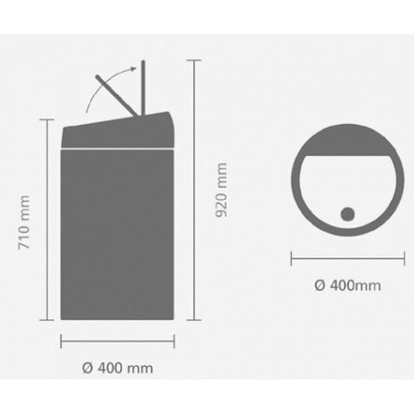 Мусорный бак Touch Bin 60 л cтальной полированный