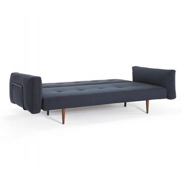 Диван Innovation Living Recast Plus с подлокотниками Cusions ножками из темного дерева и черной рамой синий