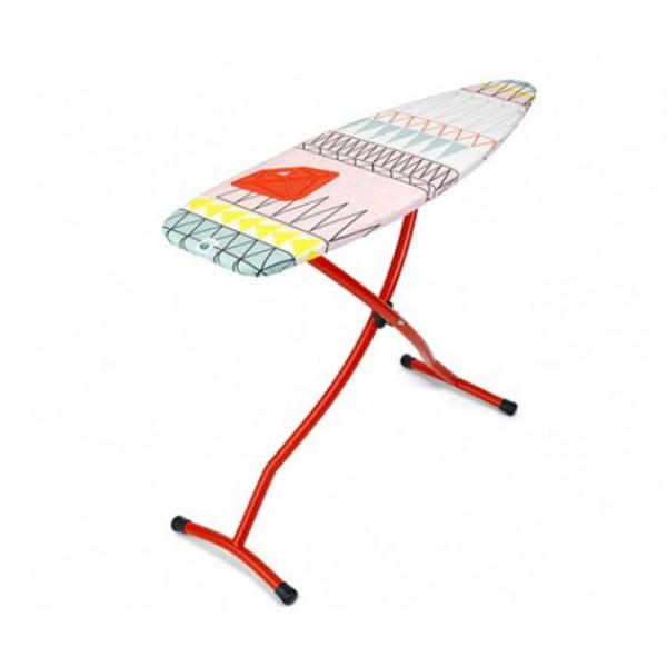 Гладильная доска 135х45 см (D) с силиконовой жаропрочной подставкой, красный
