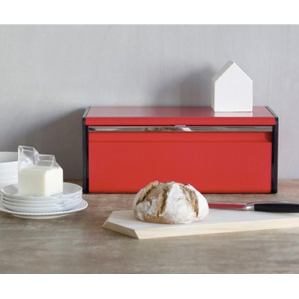Хлебница с откидной крышкой пламенно-красный