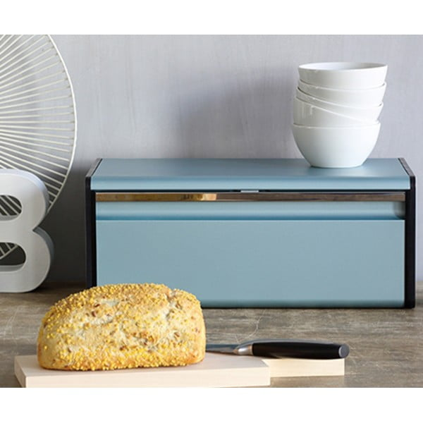 Хлебница с откидной крышкой мятный металлик