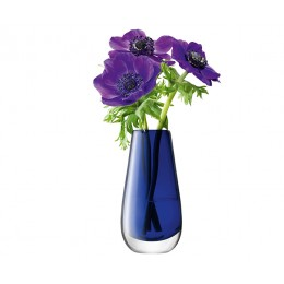 Ваза в форме бутона Flower Colour 14 см синий