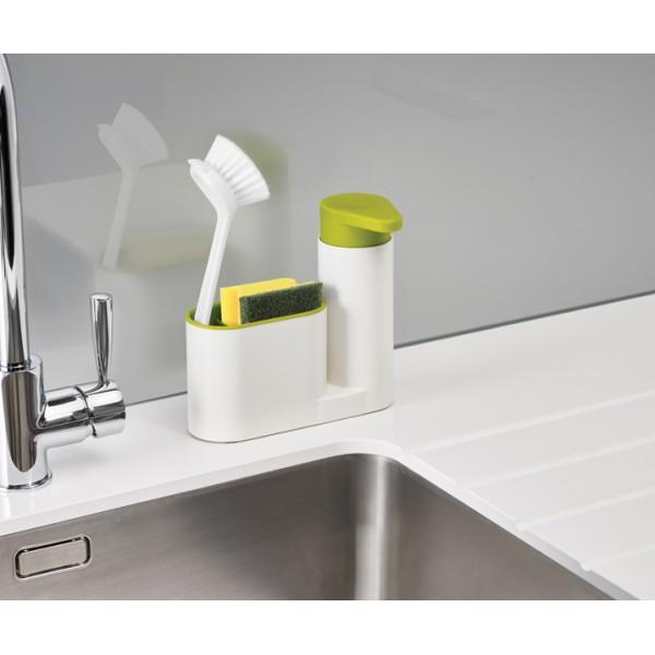 Органайзер для раковины с дозатором для мыла Joseph Joseph SinkBase белый-зеленый