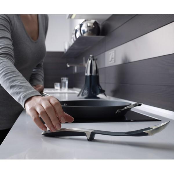 Набор из 4 кухонных инструментов Elevate™ с щипцами серый