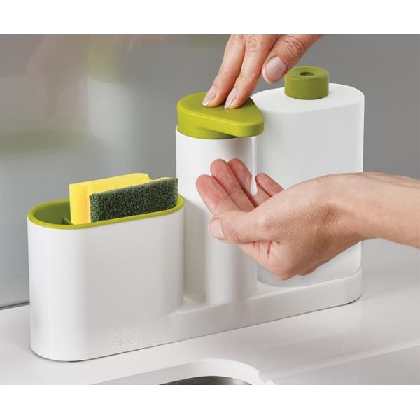 Органайзер для раковины SinkBase Plus белый/зеленый