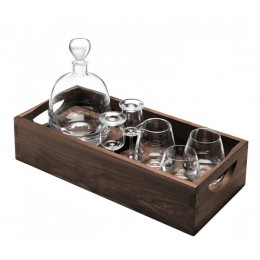 Набор для виски с деревянным подносом LSA Islay Whisky