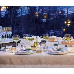 Набор из 8 бокалов-креманок золотым декором Deco 235 мл