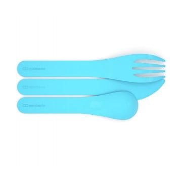 Набор из 3 столовых приборов в футляре MB Pocket Color голубой