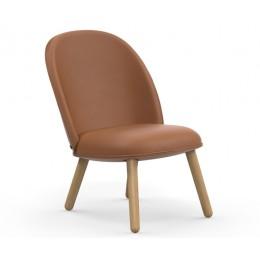 Кожаный стул Normann Copenhagen Ace Lounge коричневый
