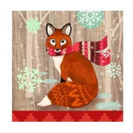 Салфетки бумажные Fox With Scarf 20 шт