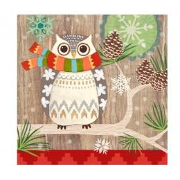 Салфетки бумажные Owl With Scarf 20 шт