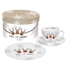 Набор чашки блюдце десертная тарелка Oh! Let it Snow!