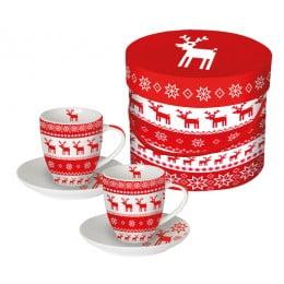 Набор чашек для эспрессо в подарочной упаковке Magic Christmas
