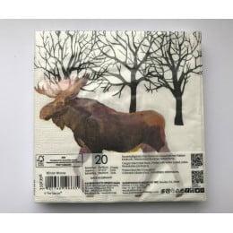 Салфетки бумажные Winter Moose 20 шт