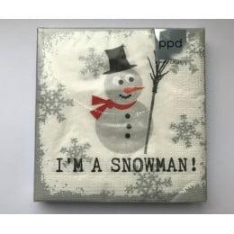 Салфетки бумажные I am Snowman 20 шт