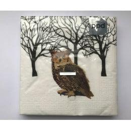 Салфетки бумажные Winter Owl 20 шт