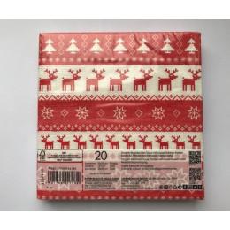 Салфетки бумажные Magic Christmas red 20 шт