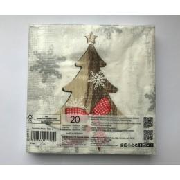 Салфетки бумажные Country Xmas Tree 20 шт